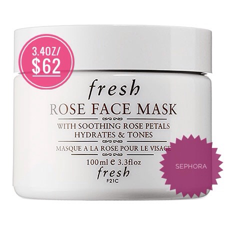 Fresh Rose Face mask | Fresh products are, in my opinion, worth the hype. I've tried lots of samples of their products before saving up + purchasing the full-size version for myself. With 915 reviews up on Sephora (+ an average of 4/5 rating), this is clearly a cult-favorite.
