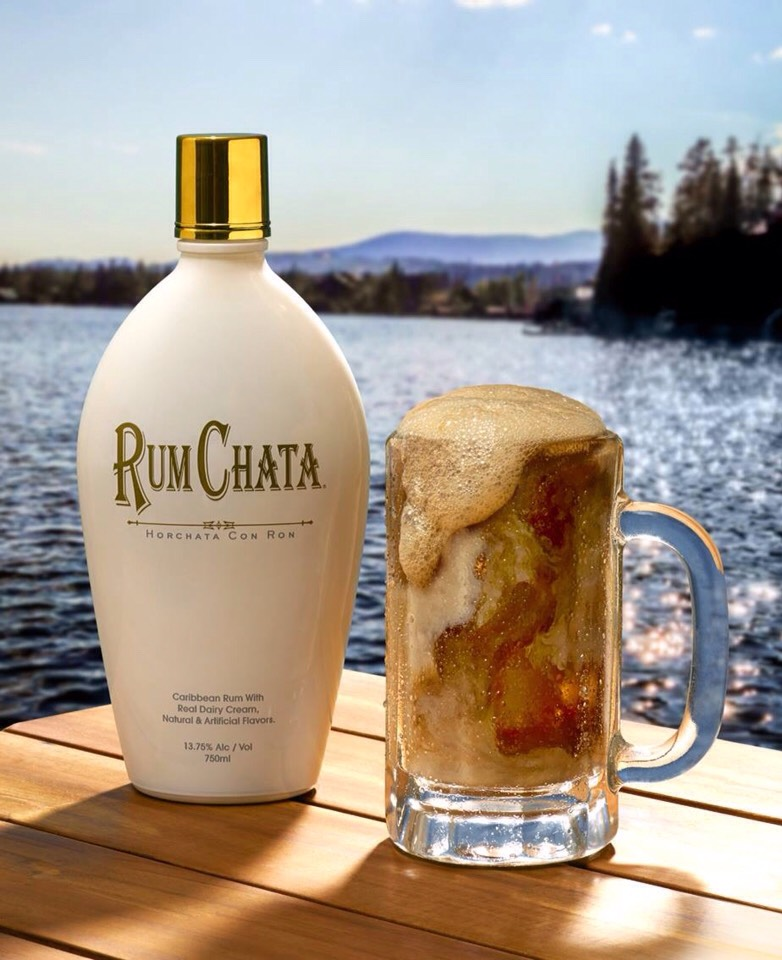 1 part rum chata  3 parts A&W  A scoop of Vanilla ice cream  To prevent separation  Add the A&W over ice first then add the Rum chata once the A&W is cool. Top it up with the scoop of ice cream. Enjoy....!!!!!