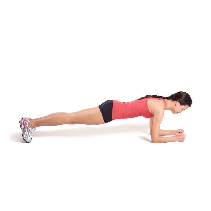 1 min elbow planks