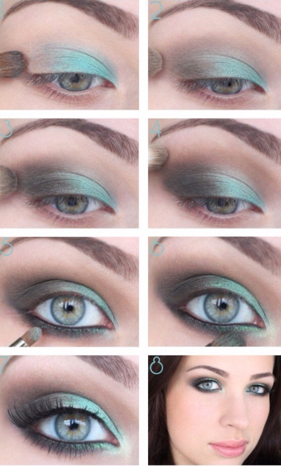 Using light blue, green, or turquoise is also a great way to make your eyes stand out.