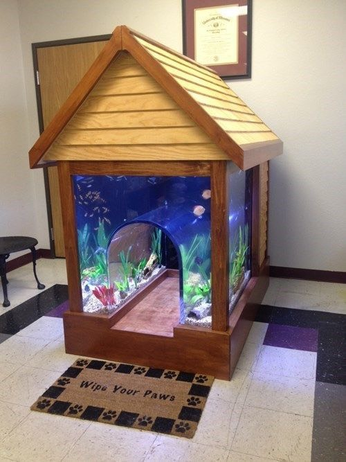 21. Fish Tank Dog House Best dog house ever.