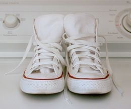 For white shoes you can scrub your converse with bleach.