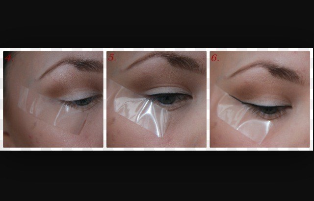 BE CAREFUL not to tape your lashes accidentally, IT HURTS and we all know you can't apply make up to a watery eye!!
