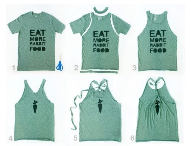 Follow these few simple steps to make your very own T-back/gym shirt!