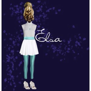 Graceful, talentedly bright, and beautiful were the quality traits of Elsa's that I tried to model after her gorgeous gown in this outfit. I loved the crisp snowflake necklace with the rest of the super cute outfit as well as the sparkly, silver heels! The curls were also a lovely touch!