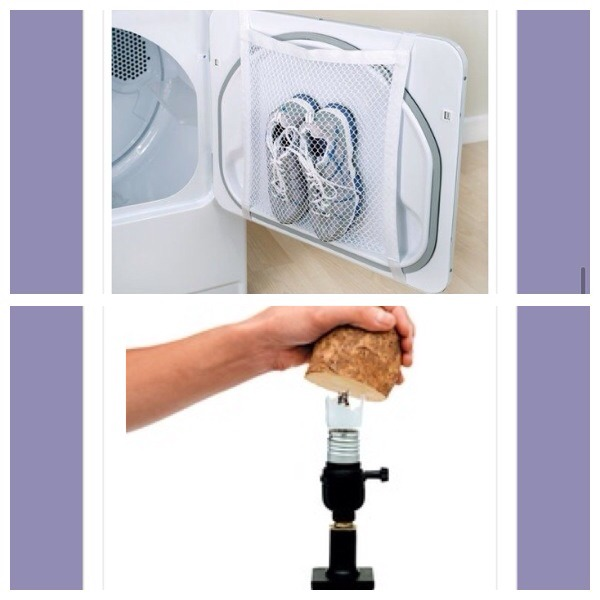 37.tape a laundry bag to the inside of your tumbler dryer door for easy drying of sports shoes  38. Use a cut potato to easily remove a broken lightbulb