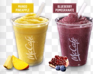 Coming up!! Mc Donald's mango pineapple and blue berry pomegranate  smoothie.. Copy cat😝😋