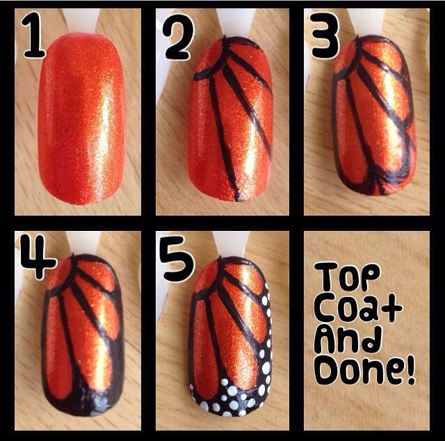 Step by step tutorial on butterfly nails! I have more cute nails on my Instagram @nataliaaboo