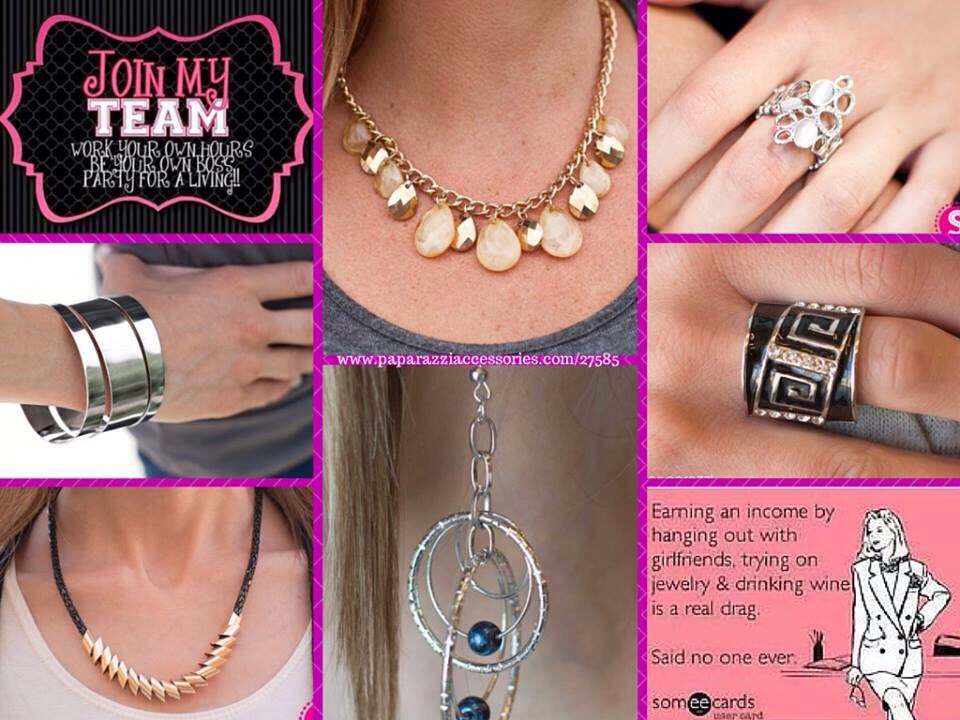 Earn 45% commission selling $5 jewelry & accessories! Visit my site www.paparazziaccessories.com/27585 or visit my facebook page www.facebook.com/yes5dollars for more information!