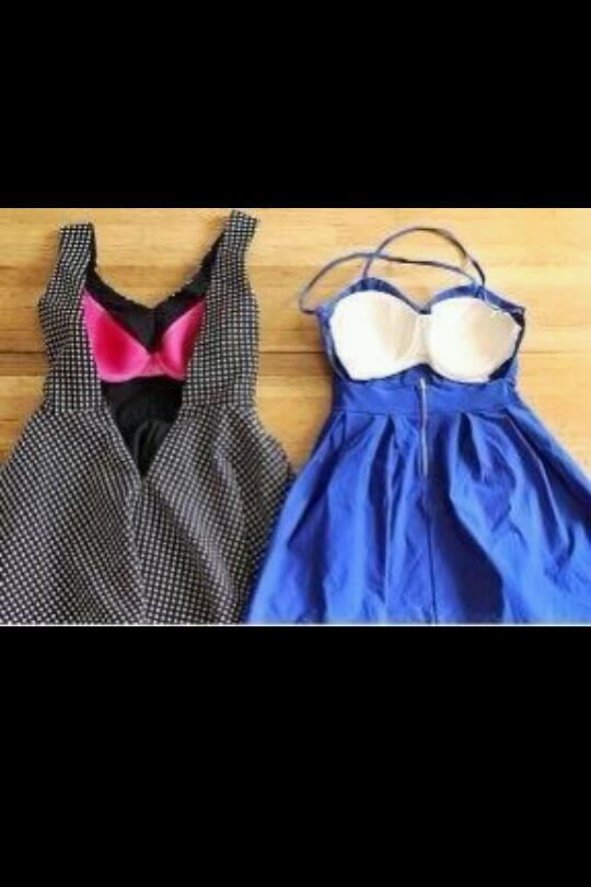 sew a cheap bra on the inside. This tip has made my past summers the best summer's because my outfits were sooo cute!!!