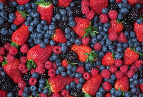 berries are loaded with antioxidants which manage body weight control