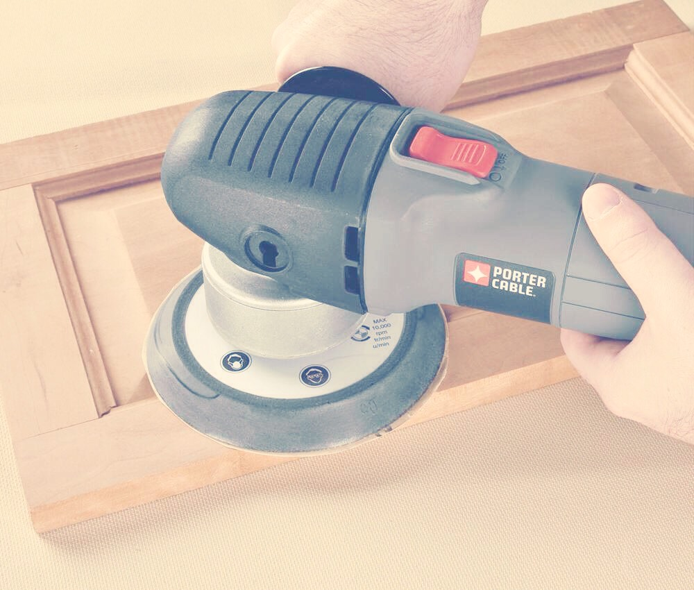 Use this VERY handy tool, to sand down old recycled wooden pieces of furniture. You can make anything new with a bit of sanding and glossing. :)