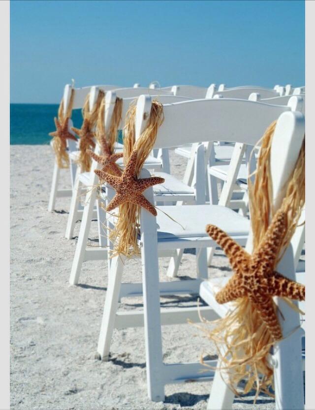 Great idea for a beach wedding.