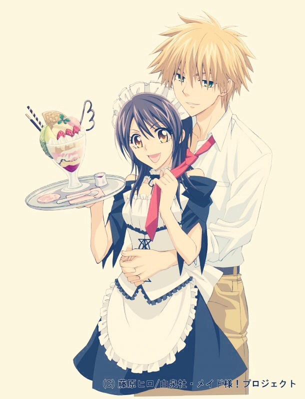 Maid Sama is good. There is no English Dubbed but that hardly matters as it's a great love story.