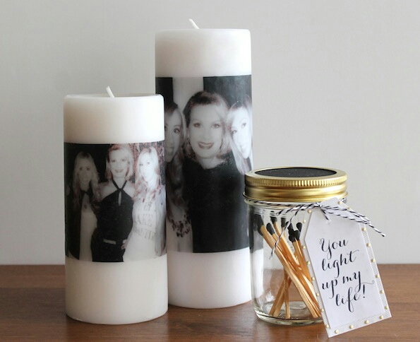 Celebrate your mom with one or two of these thoughtful (and creative) Mother's Day photo candles. This heartfelt gift doubles as a centerpiece that your mom will love!