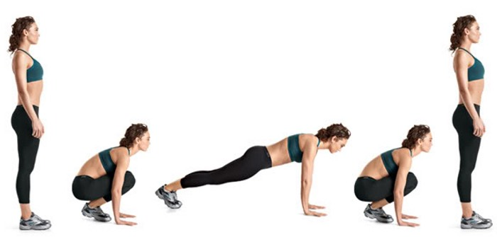 25 burpees ~core, arms, and legs~