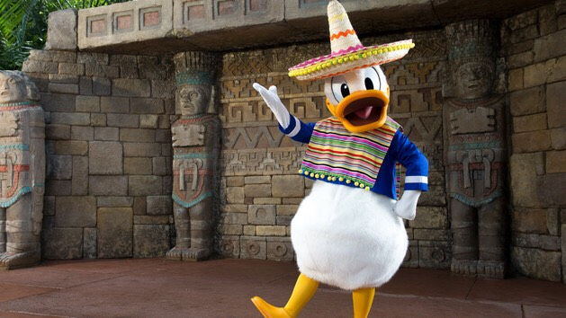 Donald Duck Located in Mexico in the World Showcase.