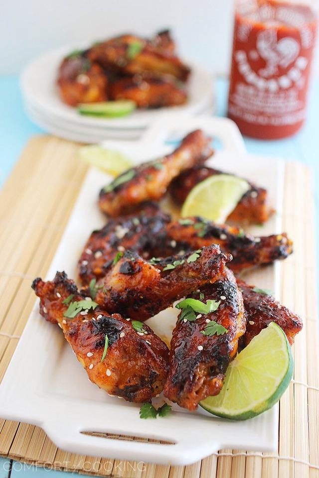 These chicken wings are also perfect for your fall parties and lazy Sundays spent watching football! After all, there's nothing better than a delicious, unexpected twist on traditional wings to get people in a party mood. Just make sure to make a BIG batch for your buddies!