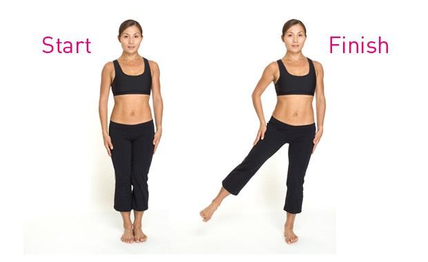 10 leg raises (each side)