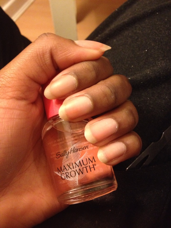 Now I've recently started using Sally Hansen- Maximum Growth.