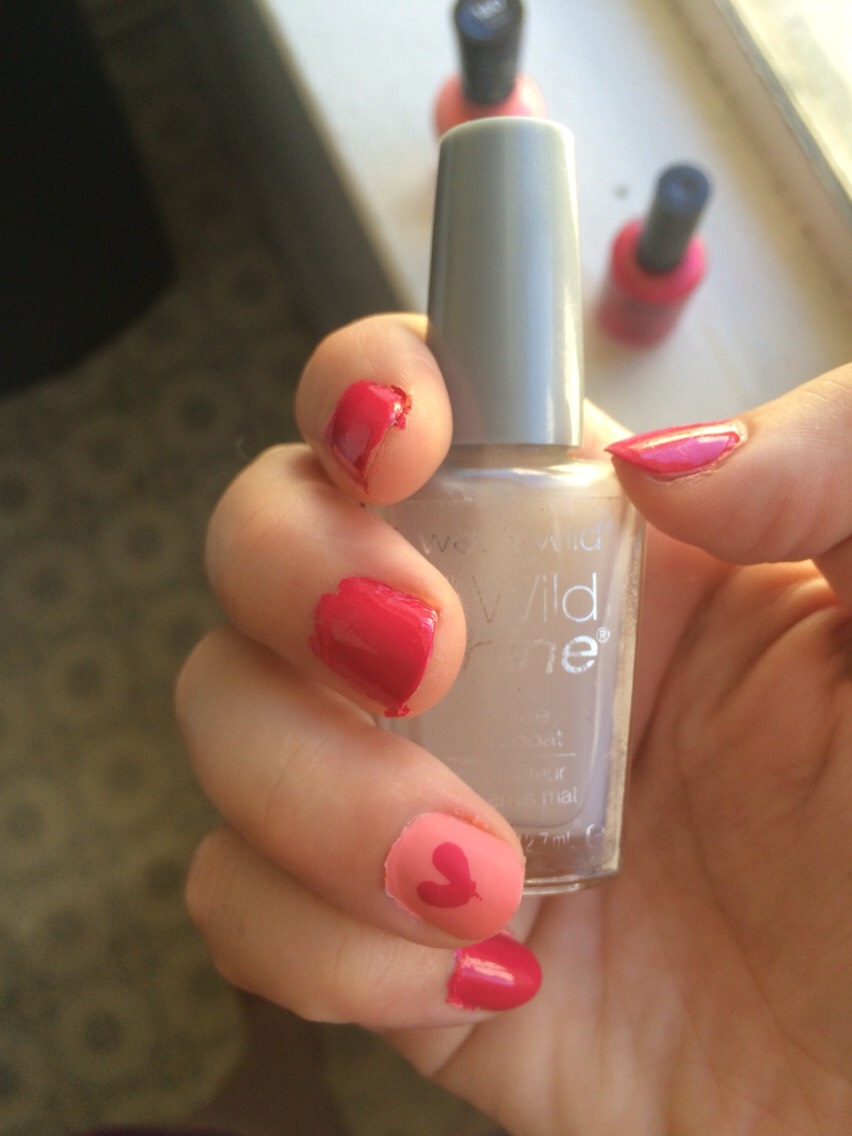 I used this normal matte top coat on the pale pink, and a normal shine one on the others and it worked great!