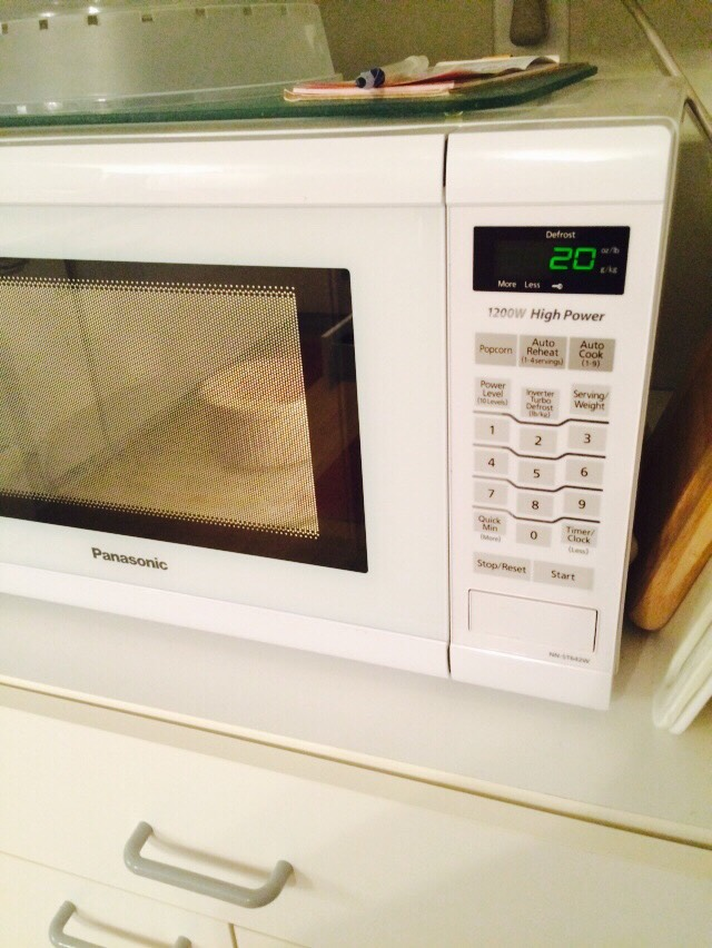Put the milk and chocolate to the microwave for 20-30 seconds.