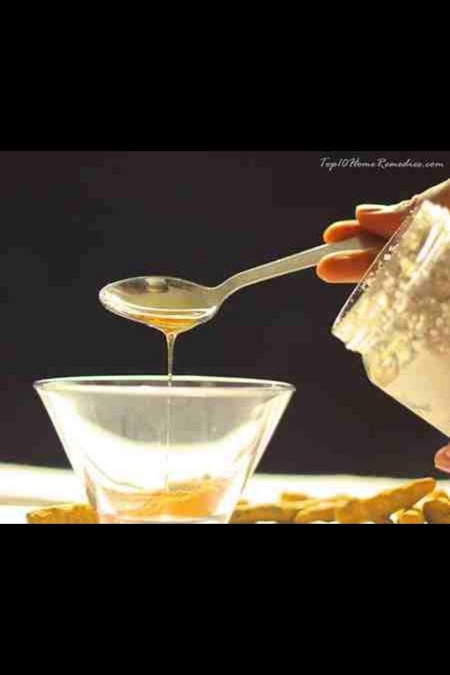 Mix in one teaspoon of honey