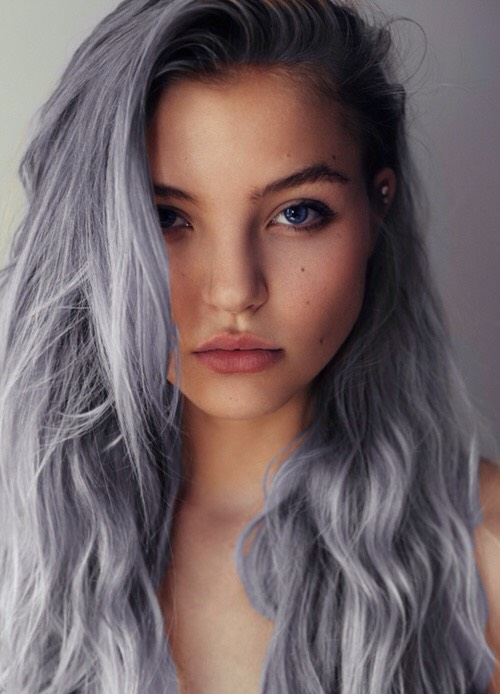 Why not try out grey hair