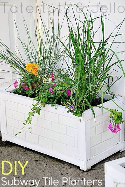 DIY Subway Planters  These were one of my favorite projects last summer (besides major renovations on a 1905 cottage), and I wanted to share them with you. They're fairly easy to make -- just remember to bring them in in the winter.