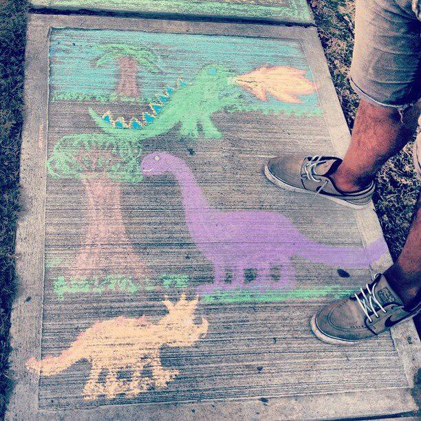 8. Make chalk art
