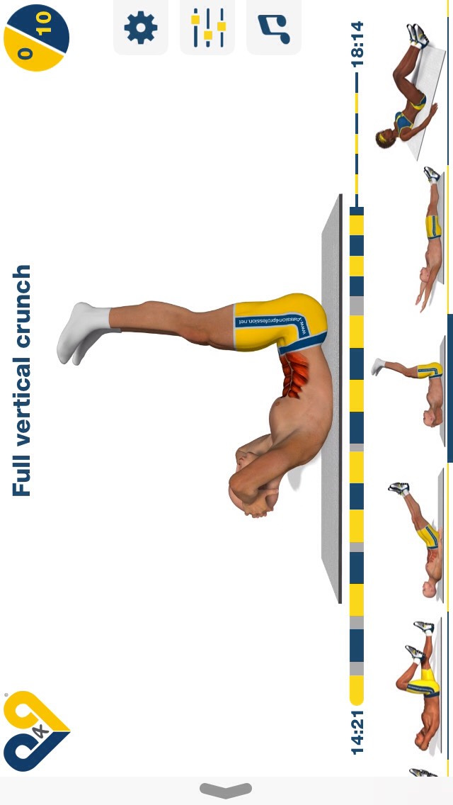 full vertical crunch, regular crunch w/ your legs off the ground; 10 reps.