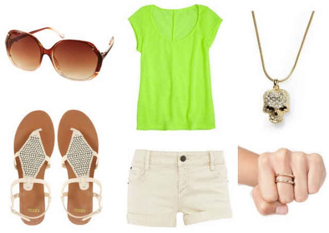 Product Info:  Sunglasses- Topshop, Top- Delia's, Necklace- Piperlime, Sandals- ASOS, Shorts- Dorothy Perkins, Ring- Nasty Gal