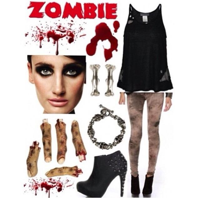 Diy girl zombie costumes diy virtual fretboard diy zombie girl costume musely solutioingenieria Images