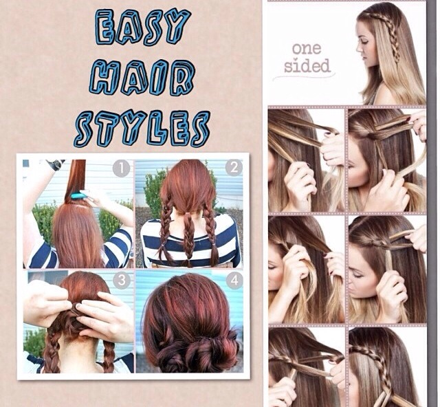 Two easy hairstyles