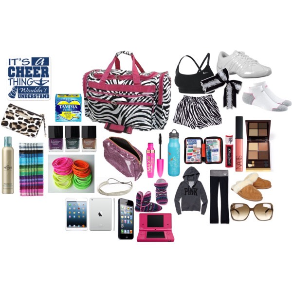 Here's some essentials for a cheer bag! *Also, this can be for High School OR Elite/All Star!*