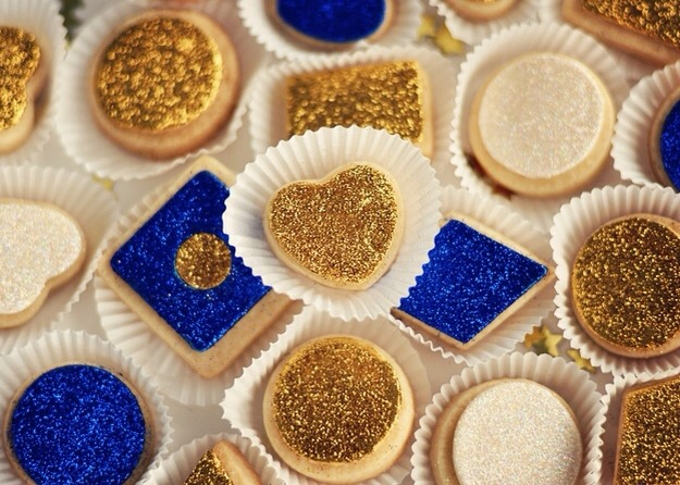 5. Gilded Glitter Sugar Cookies
