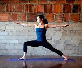 6. Warrior pose II (Virabhadrasana II): Follow the same steps as warrior pose I. The only variation here is that instead of lifting your hands above your head to form a Namaste, raise it on both sides parallel to the ground.