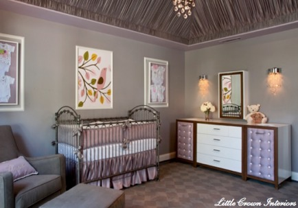 Inspired by a Vegas Hotel  I'm so glad that a baby nursery inspired by a Vegas Hotel did not turn out super tacky.
