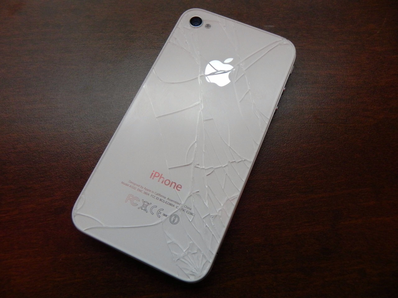 A cracked IPhone (but please do not purposely crack you phone to do this...)