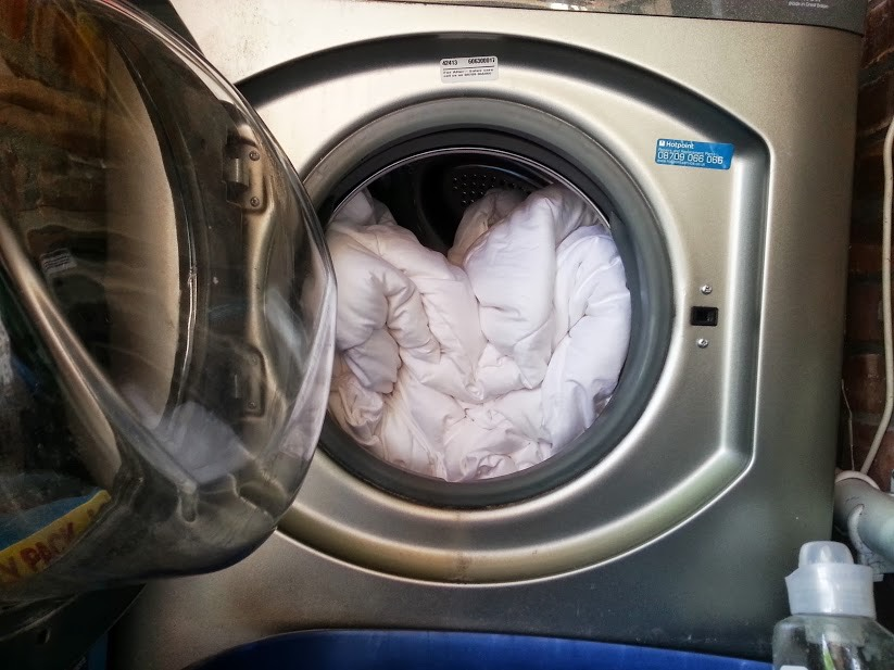 Once a week, wash your bedding in hot water (over 130 degrees F). A typical mattress can harbor between 100,000 to ten million dust mites, a common cause of allergies.