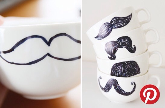 Mugs  Decorate a mug or too with your favourite colour sharpie 💕