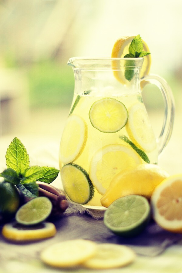 Be sure to drink water with lemon and lime in it. No fizzy drinks or caffeinated drinks!