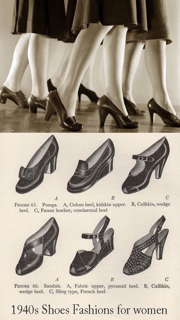 Wooden pumps and heels gained popularity with American woman. Peep toes and t-straps became fashionable.