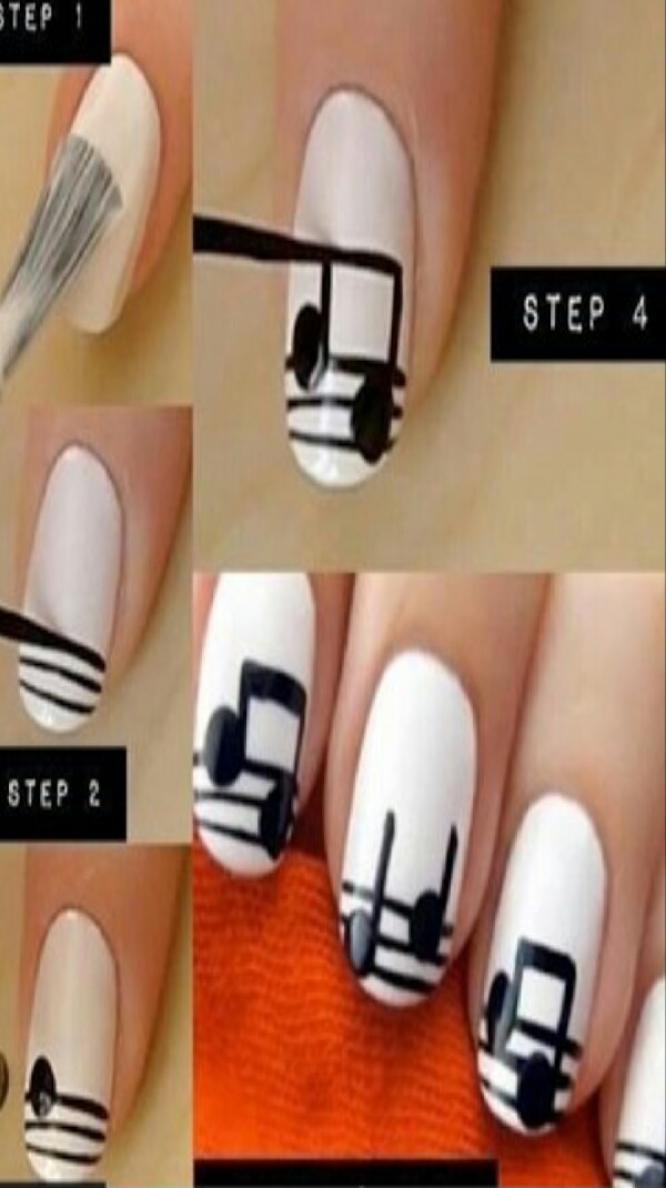 Love Music? .. Paint them on your Nails!   Like & Share! (: