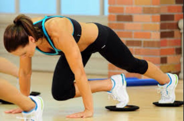 Sliding mountain climbers: make sure there is enough friction using foot sliders or paper so it's not too easy 😜 With smooth, controlled motions, alternate bringing each leg under you to you chest, using the abs. Do this for 30 seconds (longer if you have good endurance).