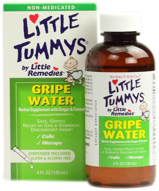 12. Gripe water can soothe an adult's upset stomach. It can also help with bloating, intestinal pain, and gas.