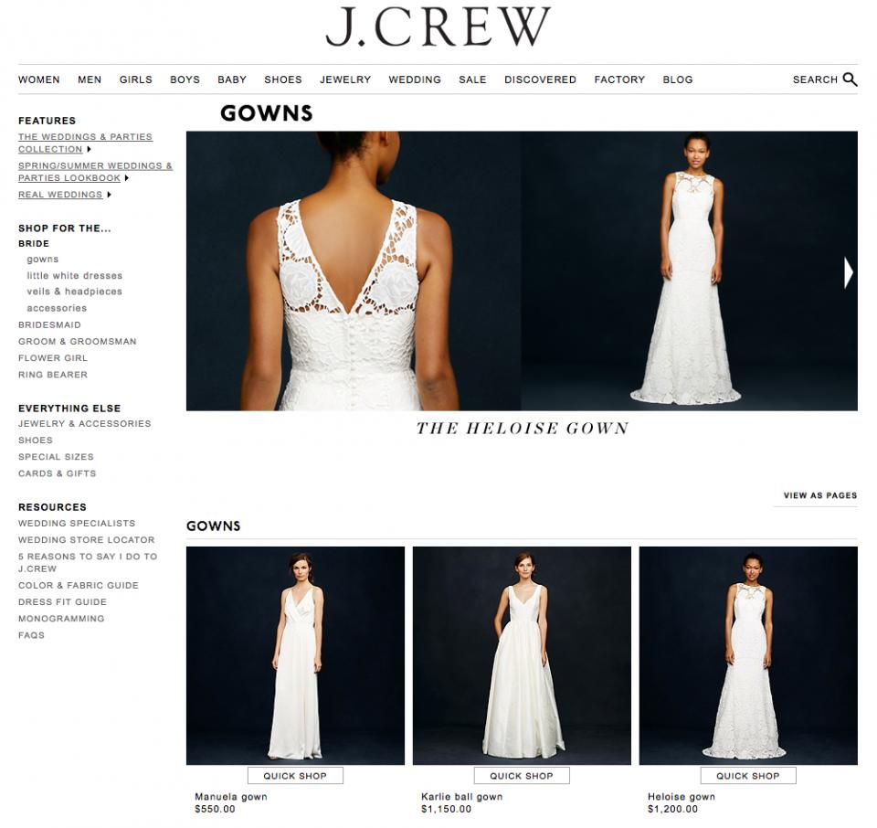 6. The J.Crew Bridal Shop