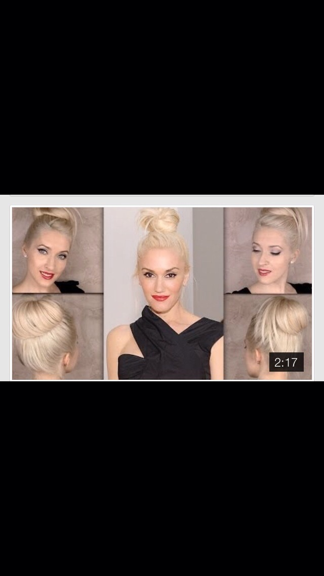 Try This Edgy Top Knot Tutorial Inspired By Gwen Stefani Video