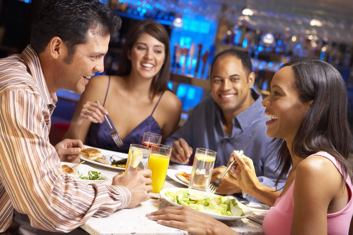 Eat with others whenever possible. Eating with other people has numerous social and emotional benefits—particularly for children—& allows you to model healthy eating habits. Eating in front of the TV or computer often leads to mindless overeating as your mind is not focussing on what you are eating.