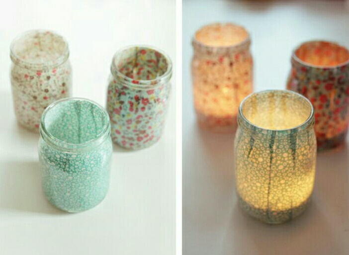 Decorate your jars in any way you like, so they'll look better.